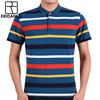 Polo Shirt Men Breathable Striped Business 2018 New Brand Casual Short Sleeve Polo Shirt Pure 100%Cotton Work Clothes