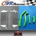 Aluminum Radiator & GREEN Hose for YAMAHA YZF450 YZ450F 2010 2011 2012 2013 10-13