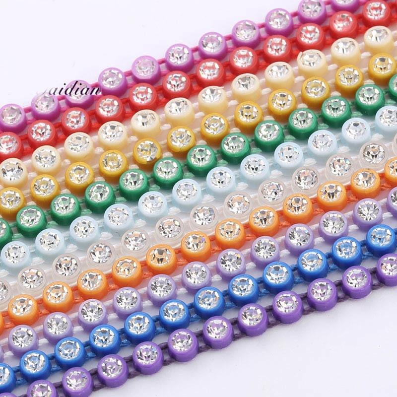 Wholesale Native Beadwork SS6 Crystal Rhinestone Banding Trim 10 Yards Each Card    Jewelry Earring Accessories