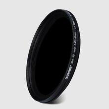 ZOMEI Slim מתכוונן צפיפות ניטרלי ND2 400 מסנן עבור Canon ניקון מצלמה עדשת 49/52/55/58/62/67/72/77/82mm