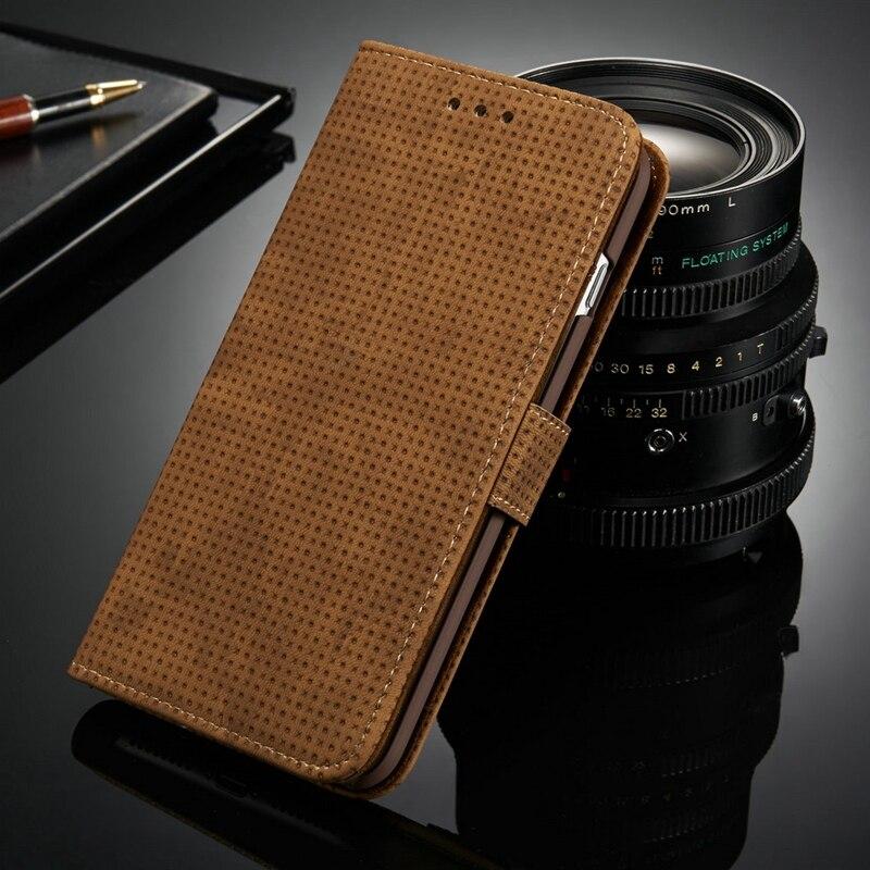 Para el iphone 6 s 6 Plus Caso Soporte de la Carpeta de Cuero de Lujo Retro Vint