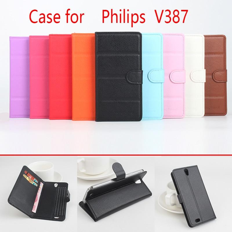 HongBaiwei Flip Luxe Portefeuille En Cuir Cas pour Philips W6610 V387 i908 W6500 W737 W832 W8500 Sacs Peau