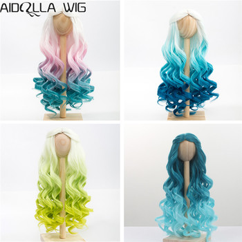 1/4 1/3 BJD/SD Doll Wig Hair High Temperature Fiber Long Wave White Pink Blue Green Ombre Color Wigs for BJD/SD Dolls new arrival 1 piece 100cm long wigs wave small curly long wig hair tree for 1 3 1 4 1 6 bjd diy dolls hair