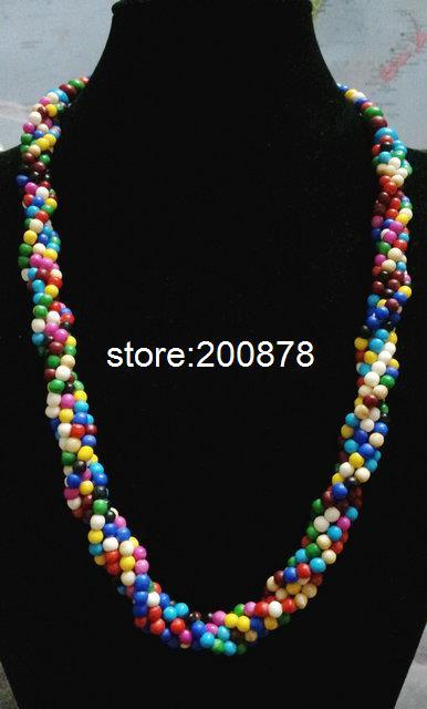 TNL479 Tibetan colorful Yak bone beaded necklace,multi strands statement,ethnic fashion Bohemian necklace,Low MOQ