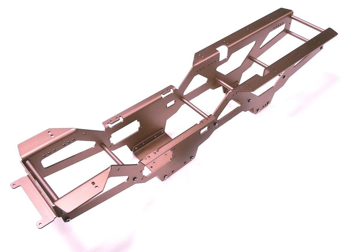 Amortiguadores de aleación de aluminio RC 1/10 con Kit de chasis para TAMIYA clodbumper/Bullhead 4*4 6*6 - 5