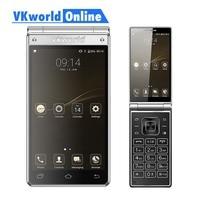 Vkworld T2 Plus Flip Mobile Phone Dual Screen 4.2 HD IPS MTK6737 Quad Core RAM 3GB ROM 32GB Dual Sim 2018 Android Smartphone