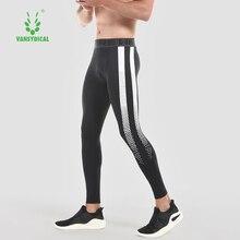 Men's Printed Running Tights Compression Basketball Training Pants Vansydical 2018 Man Cycling Bodybuilding Leggings
