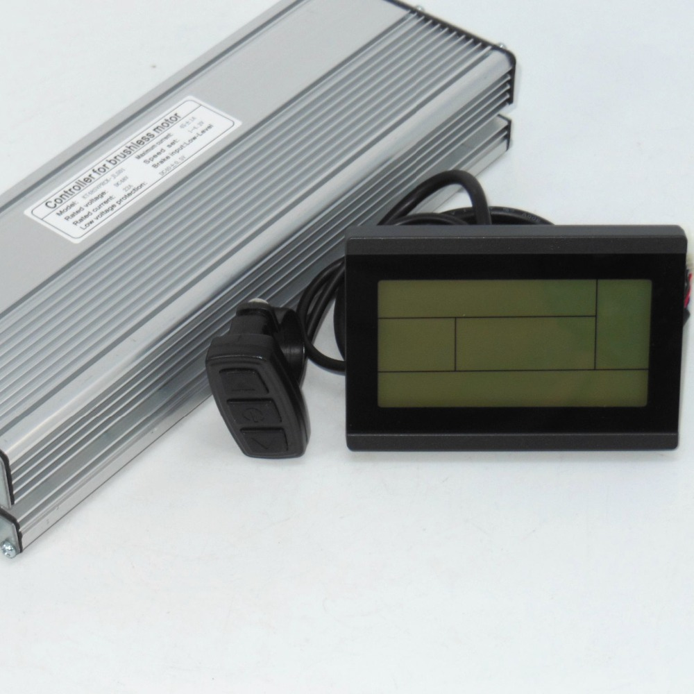48V 1500W 2000W 45Amax Brushless DC Motor Controller Kunteng Ebike Sine Wave Controller +KT LCD3 Display One Set