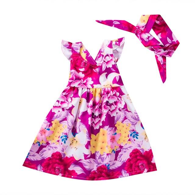 Niño niños Baby Niñas flor verano partido vestido sundress Vestidos ...