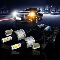 2x Dual Color 1157 1156 7440 7443 3156 3157 LED Bulb Switchback White/Amber DRL Turn Signal Light Canbus