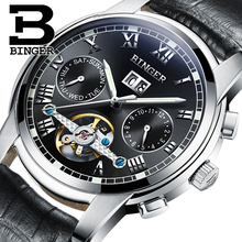 2017 New BINGER men's watch luxury brand Tourbillon sapphire luminous multiple functions Mechanical Wristwatches B8601-4