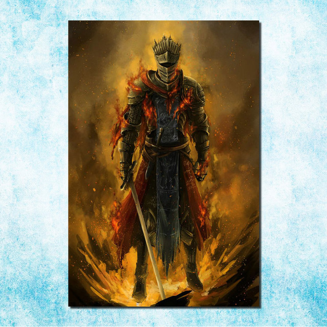 dark souls 1 2 3 art silk canvas poster print 13x20 20x30 inch game