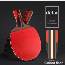 Высокое качество углерода черное лезвие S6 Настольный теннис летучая мышь Профессиональный с резиновой Пинг Понг Ракетки Весло настольный теннис ракетки