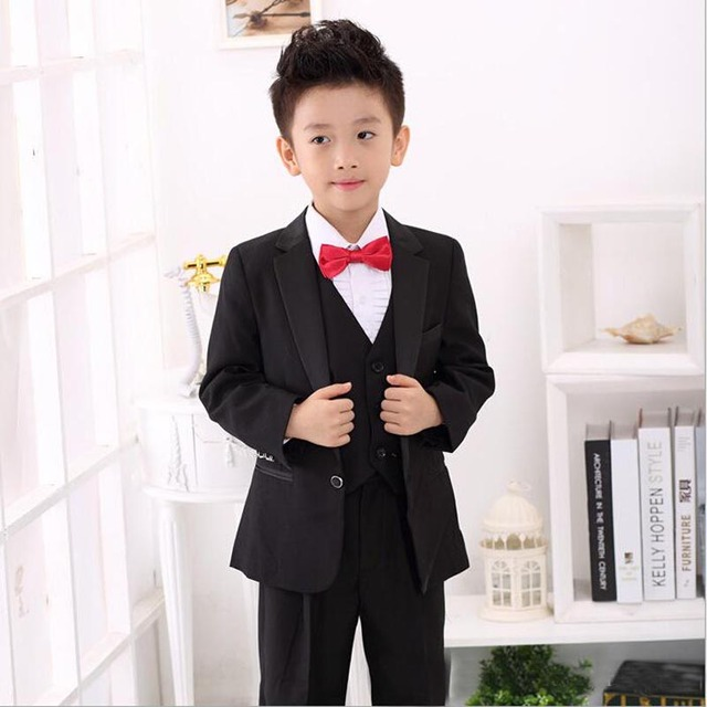 handsome white black prince boys wedding suits formal tuxedos for baby boy suits for weddings
