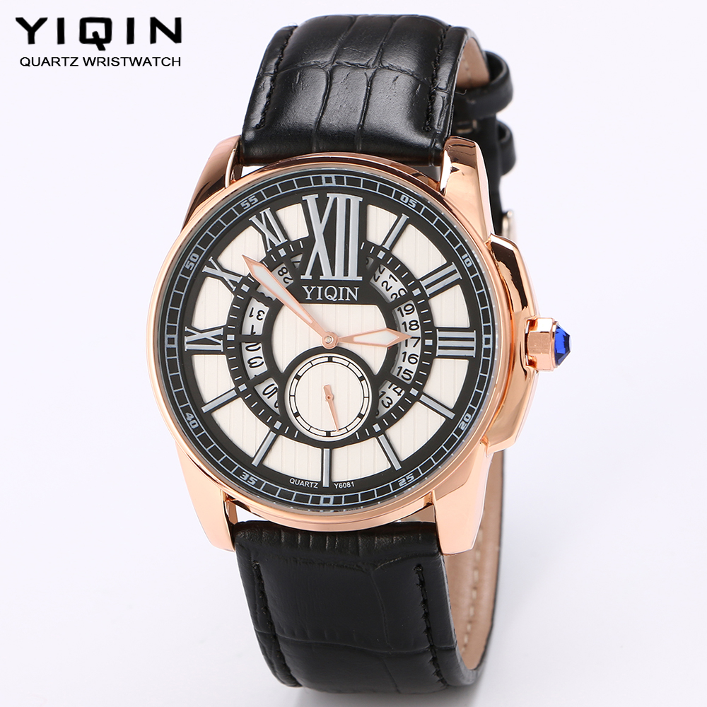 cheap designer mens watches promotion shop for promotional cheap yiqin teenagers casual watch cool quartz watches independent seconds hand accurate calendar watch men s leather brand watches