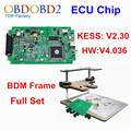 Newest Version ECU Programmer V2.30 KESS V2 + BDM FRAME Full Adapters No Tokens HW V4.036 Master Version DHL Free