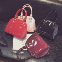 famous brands classic shell bags women s patent leather bags crossbody bags ladies luxury pu leather