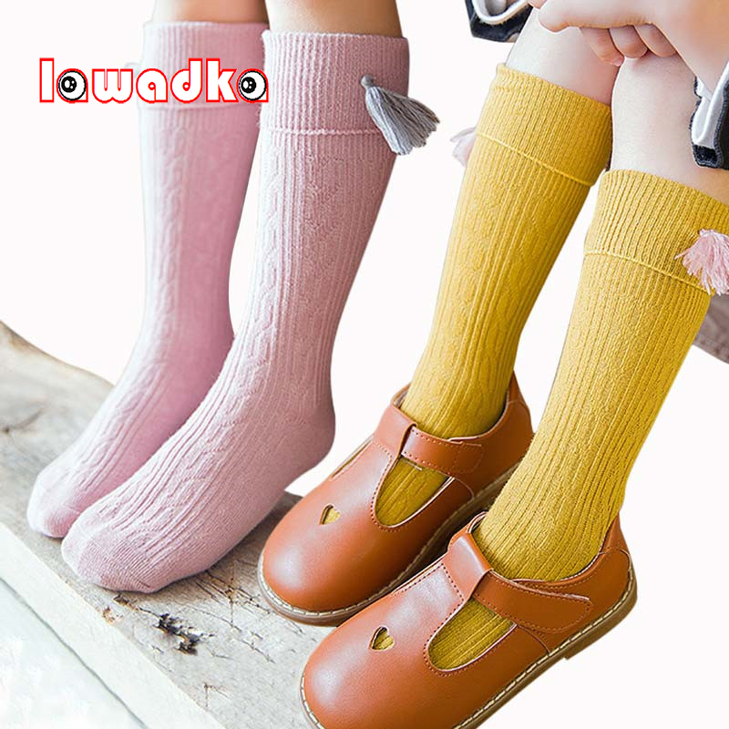 Lawadka 2018 New Tassel Kids Socks Cotton Baby Kid Knee High Socks Kid Princess Girls Socks Children Clothing AccessoriesLawadka 2018 New Tassel Kids Socks Cotton Baby Kid Knee High Socks Kid Princess Girls Socks Children Clothing Accessories
