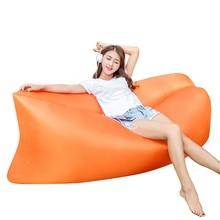 Dorp Shipping Beach Portable Sleeping Bag Outdoor Furniture Air Bed Inflatable Hammock Camping Air Sofa High Quality