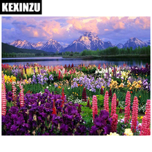 Mountain Scenery Safflower Diamond Painting Snow Flowers DIY 3D Embroidery Pictures Of Beads Coloring By Number