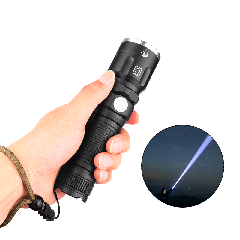 XANES 09-P50 XHP 50 5Mode Portable Telescopic Zoomable USB Rechargeable LED Flashlight 18650/26650 LED Torch For Bicycle Camping