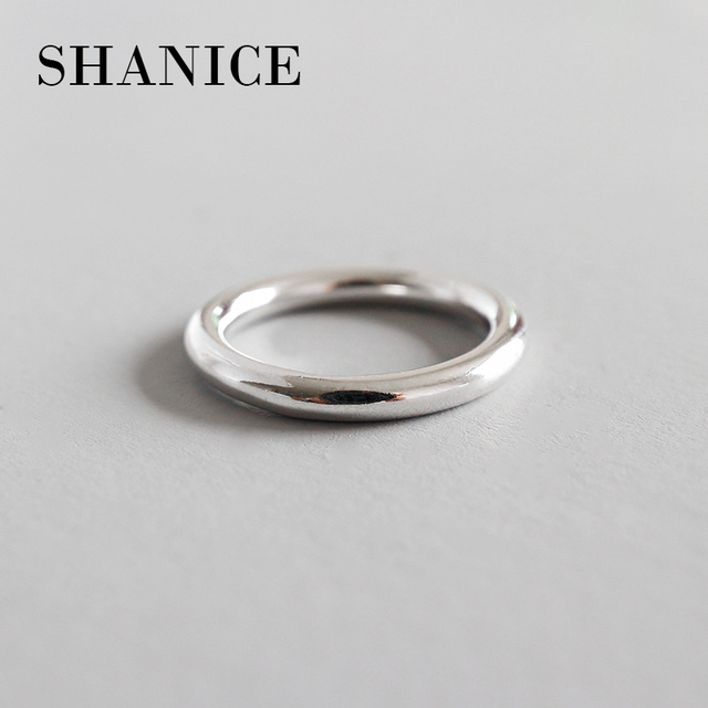 SHANICE Authentic 990 Sterling Silver Jewelry Classic Circle Rings for Women Gift Free Shipping Simple Circle Japan Korea