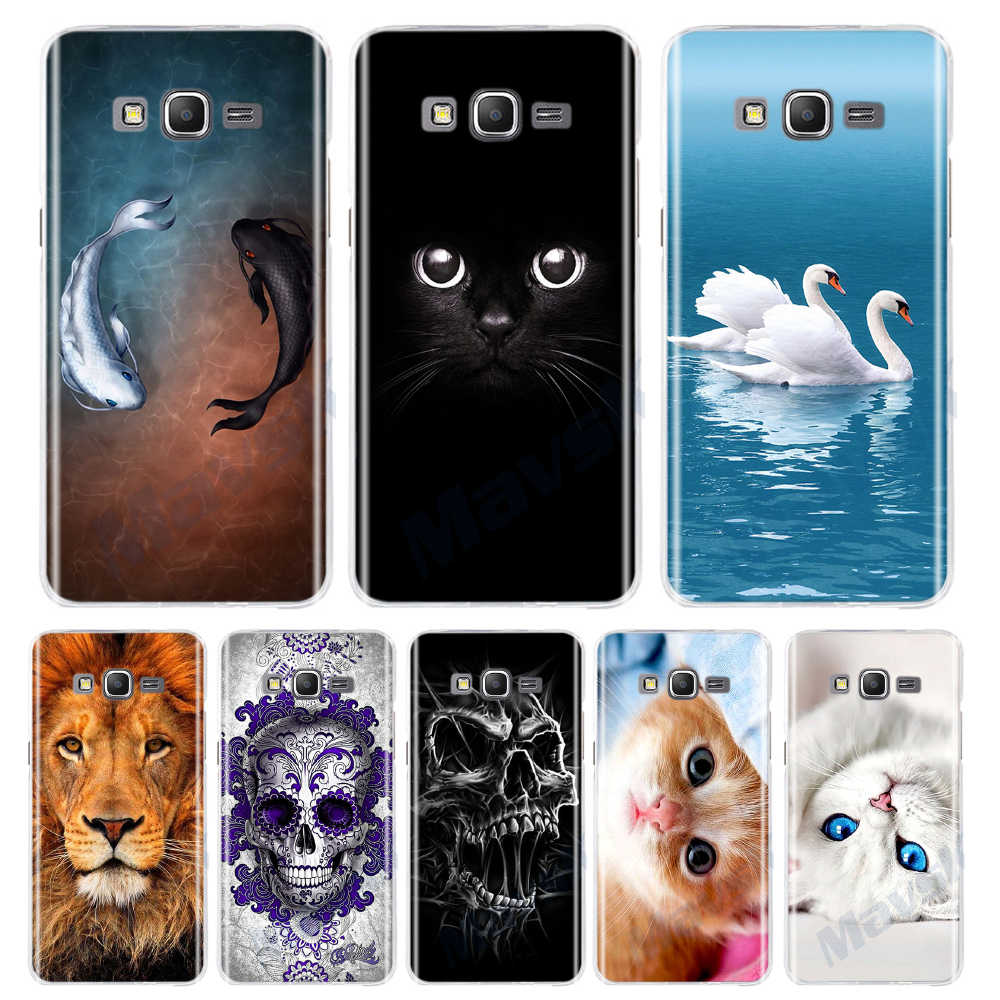 Luxury Patterned Case For Samsung Galaxy Grand Prime G530 SM-G530H G530M G530FZ G5308W G5308 G531 G531F Cute Cat Phone Cover