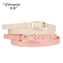 Fresh sweet pink belt women s casual all match shorts belt pin buckle decoration strap