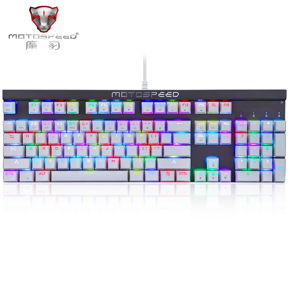 Rassian English Motospeed Ck103 Wired Nkro Rgb Backlight Mechanical Computer Keyboard Wiring Diagram 104keys Red Blue Switches All Keys Anti Ghosting In Keyboards From