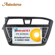 Android 8.1 Car DVD player GPS navigation For HYUNDAI I20 2014-2017 multimedia player Head unit tape recorder radio player IPS