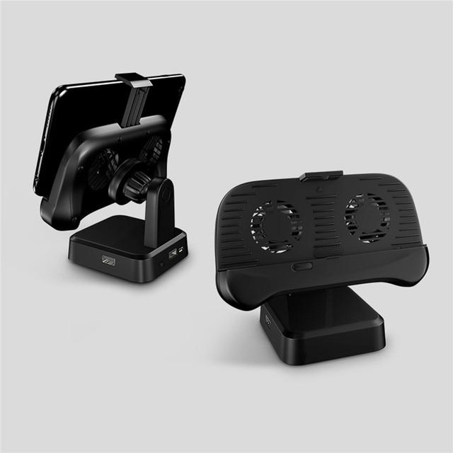 Power Bank Keyboard Mouse Mengkonversi Ponsel Pemegang Radiator Gamepad untuk Android Pubg Penggemar Tablet dan Telepon Pubg Aksesoris