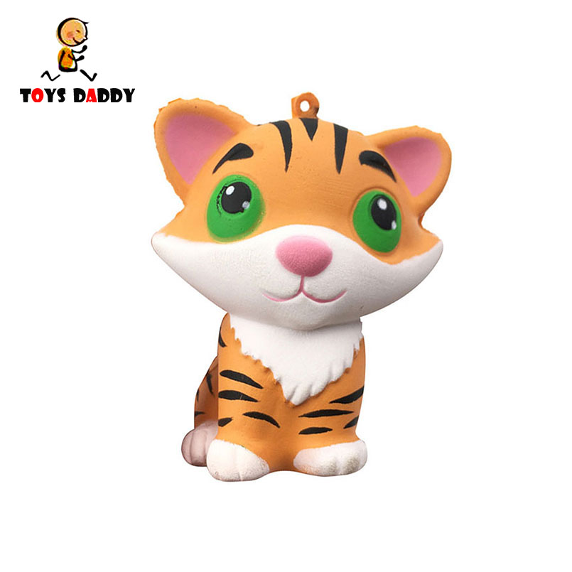 Kawaii Tiger Squeeze Jumbo Squishy Bread Soft Scented Cake Toys Doll Gift Super Slow Rising Animal Phone Straps Mobile Phone Straps