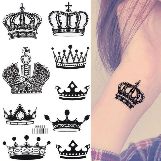 Rey Caballo Diferentes Corona Impermeable 17x10 Cm Brazo Tatuaje