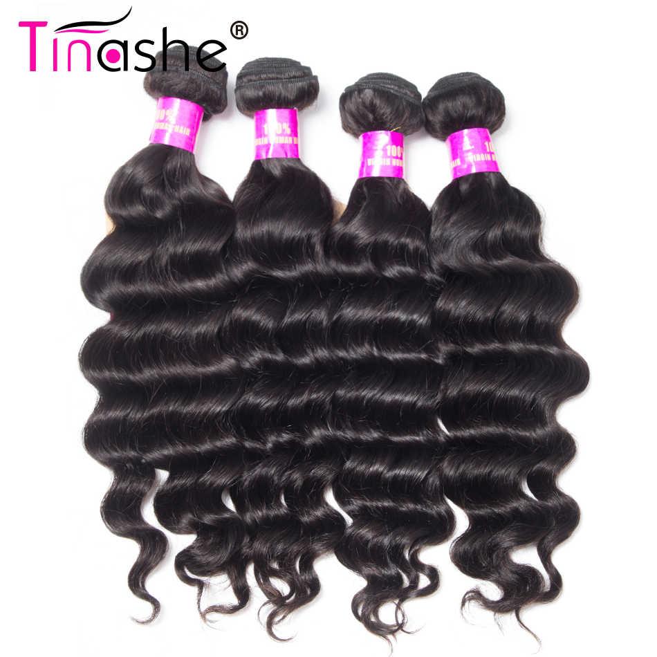 Tinashe Haar Braziliaanse Haar Weefsel 4 Bundels Deal Natuurlijke Kleur Menselijk Haar Bundels Remy Haarverlenging Losse Diepe Golf Bundels
