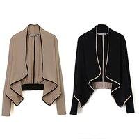Women Fashion Long Sleeve Shoulder Pad All Match Loose Short Coat Casual Blouse
