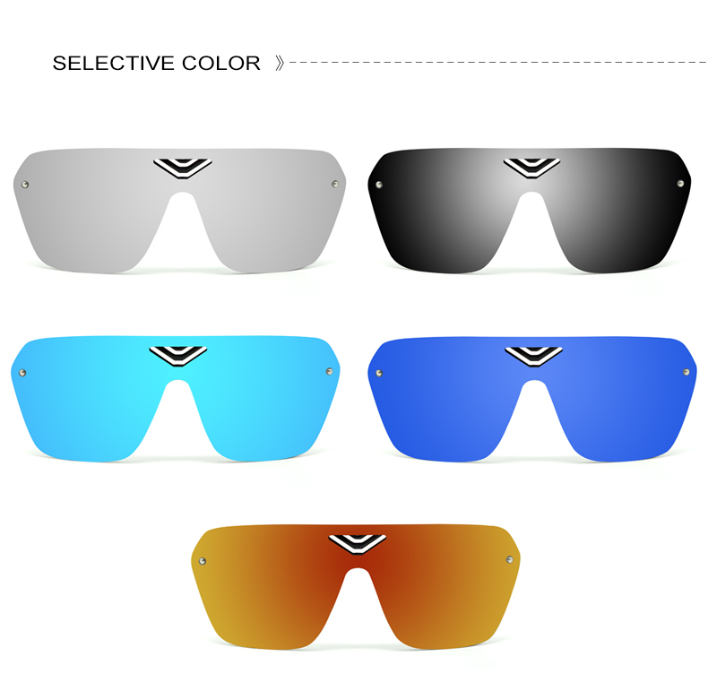 1 (5)MINIMUN Conjoined Sunglasses Women Dazzle Color Reflector Sports Glasses Fashion Vintage Frameless Men Sunglasses UV400