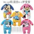 Venda Novo outono e inverno roupas de bebê mickey minnie mouse ponto moda jumpsuit romper romper