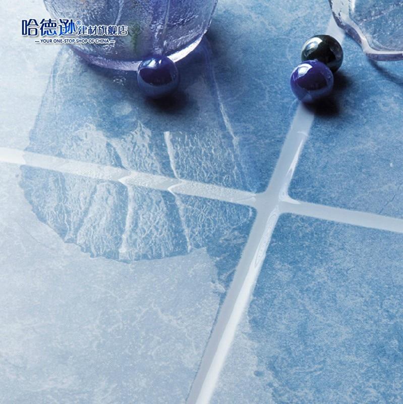 Light Blue Kitchen Wall Tiles: Bathroom Tile Slip Resistant Glazed Floor Tiles Light Blue