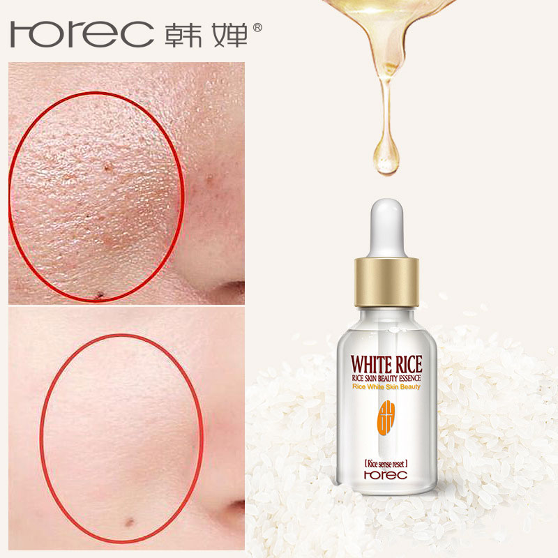 ROREC Pure Rice Face Serum For Facial Whitening Serum Moisturizing Acne Treatment Anti Aging Liquid Skin Care Face Serum(China)