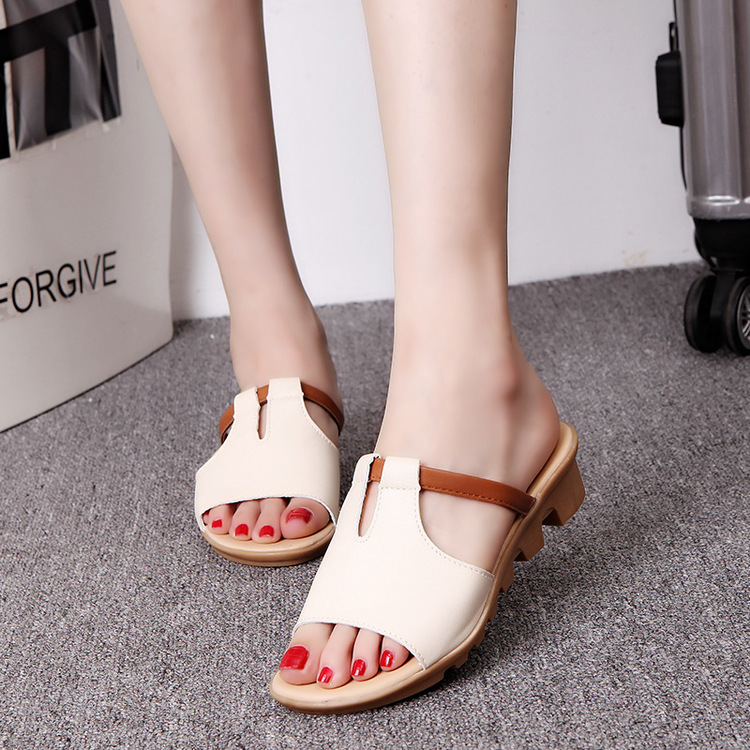 New Summer Slipper Women Slippers Slides Women Sandals Slippers Word Hollow out Women Single Sandals Non-slip Fashion B1210 1