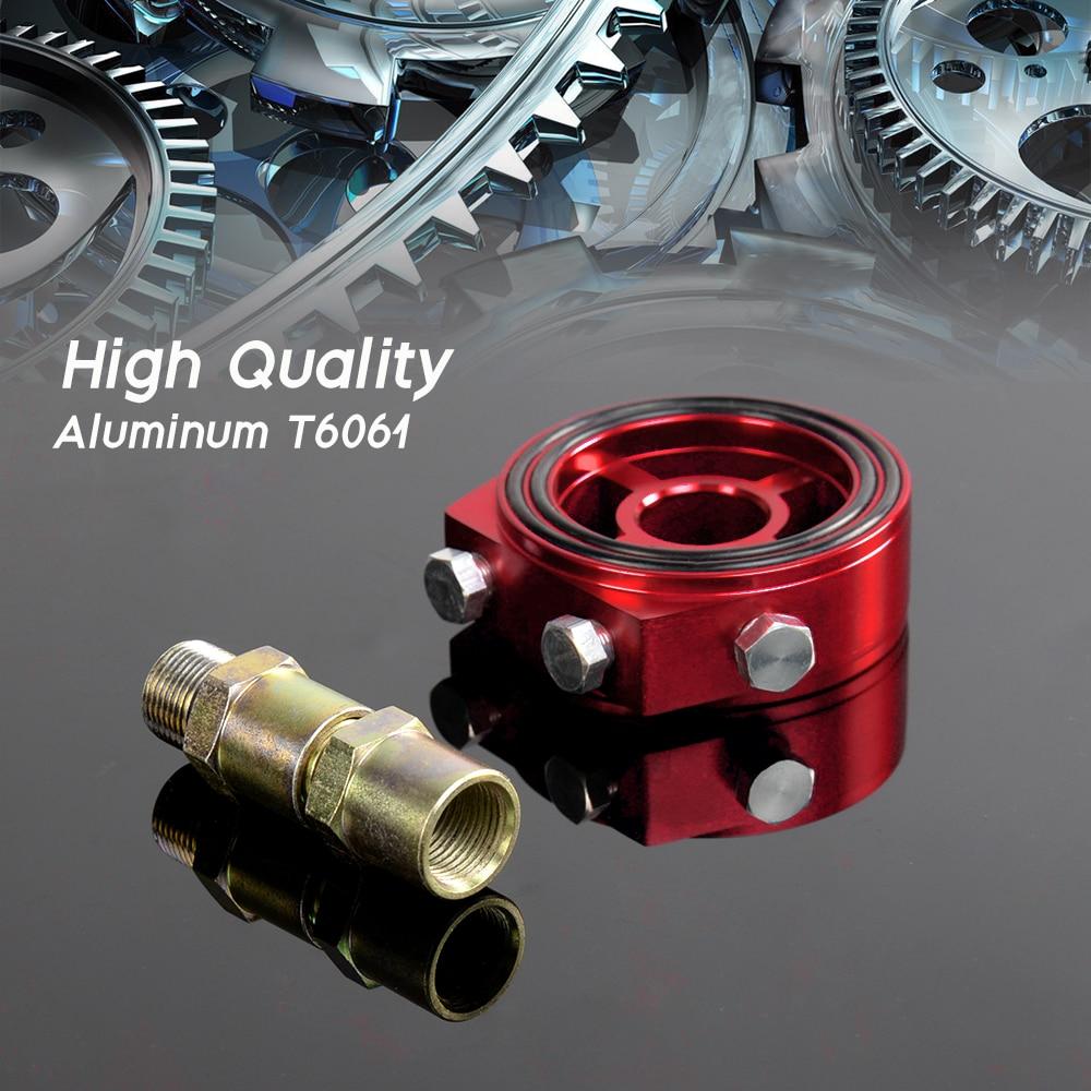 Free Shipping Racing Sport JDM Aluminum Oil/Gauge Filter Sandwich Adapter Plate Kit