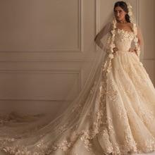 BONJEAN Luxury Ball Gown Wedding Dresses 2019 Royal Train
