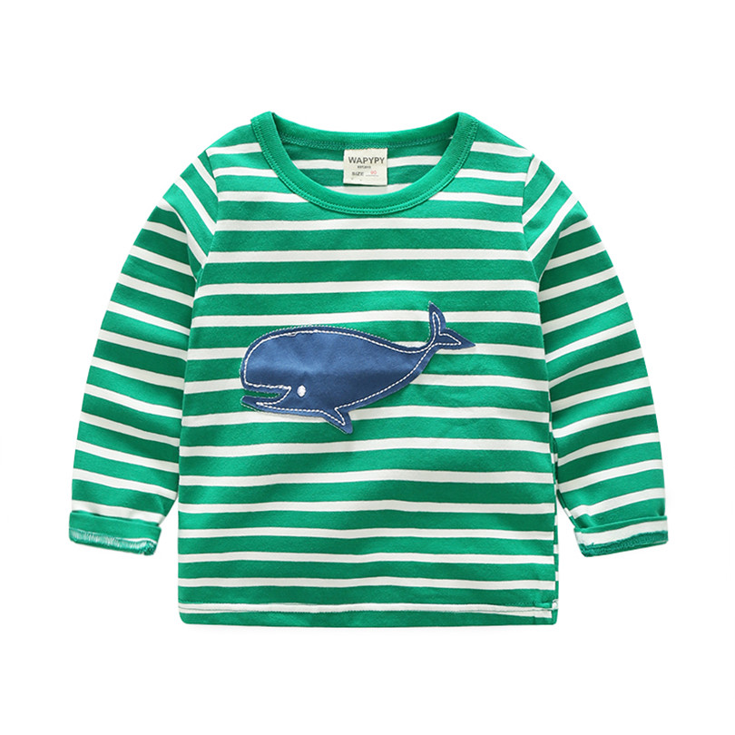 Baby Boys Long Sleeve Tops Children T shirts Spring Autumn Kids Clothes Boys Sweatshirt Striped Tee Shirt Fille Boys Clothing