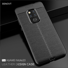 For Huawei Mate 20 Case Soft Silicone PU Leather Shockproof Phone Cover Mate20 BSNOVT