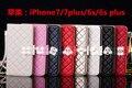 (1 UNID) de cuero de lujo caliente wallet case para iphone 7 plus 7 6 6 s plus case enrejado de diamante de la cubierta del tirón de calidad superior capa teléfono shell