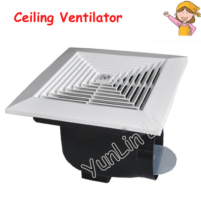 24W Mute Smoke Ventilator Ceiling Vent-Type Ventilating Fan Household Silent Ceiling Fan Kitchen Bathroom Air Exchanging Fan integrated ceiling ventilator bathroom wc kitchen silent exhaust fan