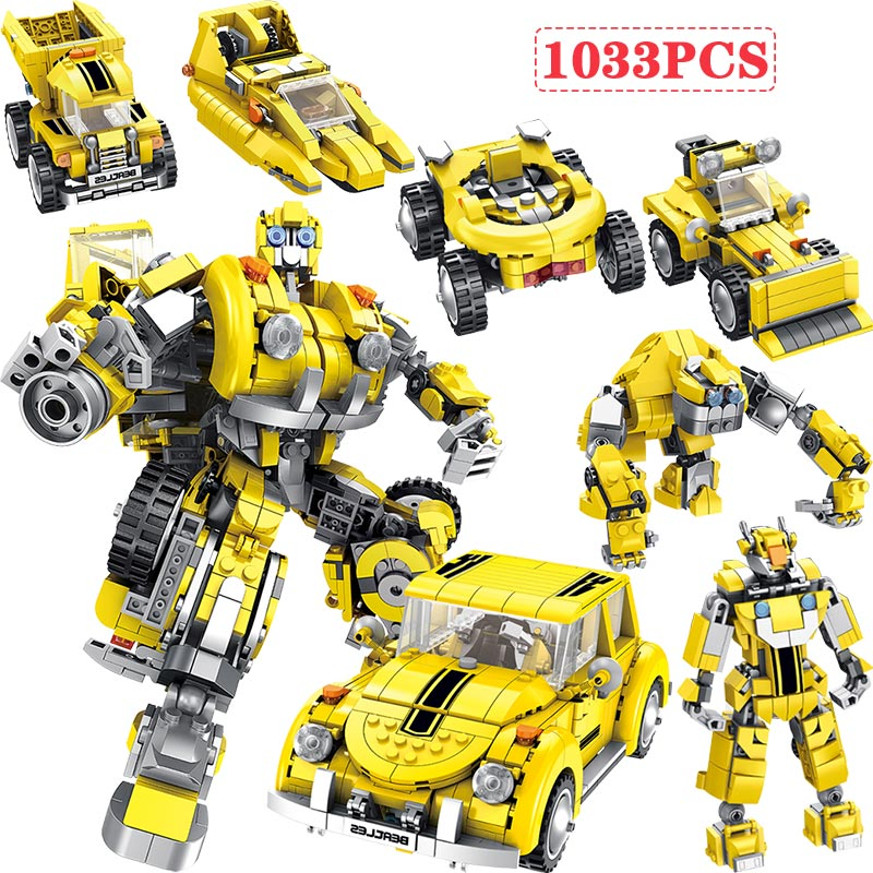 6 in 1 Technic Deformation Hornet Mecha Beetle Car Buildings Blocks Compatible Legoed Creator City Robot Educational Kids Toys6 in 1 Technic Deformation Hornet Mecha Beetle Car Buildings Blocks Compatible Legoed Creator City Robot Educational Kids Toys