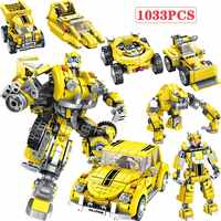 6 in 1 Technic Deformation Hornet Mecha Beetle Car Buildings Blocks legoingly Creatored City Robot Educational Kids Toys