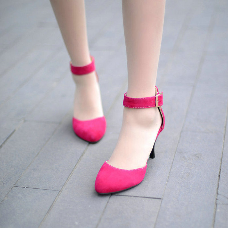 Big size QEL309-80 spring casual fashion Mid heels pumps high heel shoes for women wholesale