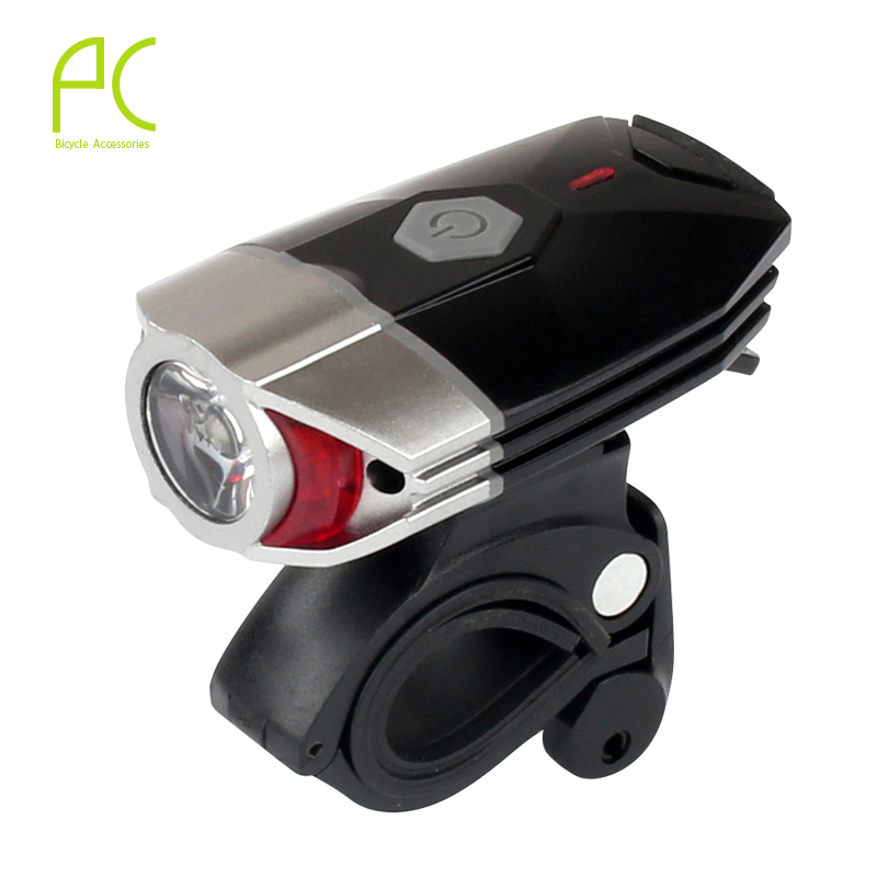 PCycling 3W USB Chargeable Headlight 300 Lumen Super Bright Night Lighting Safety Cycling Bike Bicycle Flashing Front Light